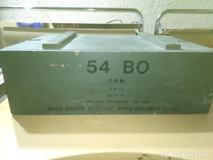 Militaria: CAJA MADERA VACIA MUNICION 54BO -- 55X38X19 CM BUEN ETSTADO VER FOTOS - Foto 7 - 247734995