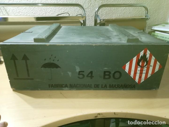 Militaria: CAJA MADERA VACIA MUNICION 54BO -- 55X38X19 CM BUEN ETSTADO VER FOTOS - Foto 8 - 247734995