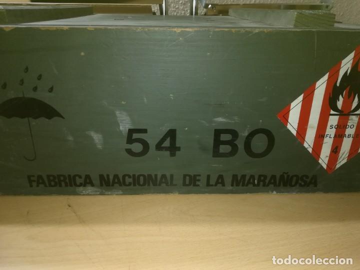 Militaria: CAJA MADERA VACIA MUNICION 54BO -- 55X38X19 CM BUEN ETSTADO VER FOTOS - Foto 9 - 247734995