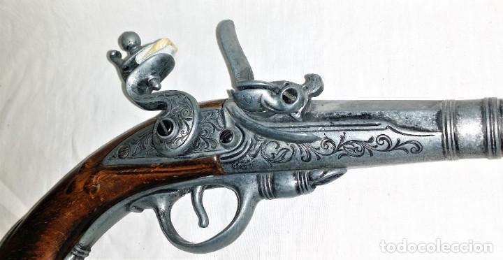 Militaria: Interesante réplica de pistola de duelo avancarga o pistola de chispa 39 cm. Envío gratis Península - Foto 6 - 252238515