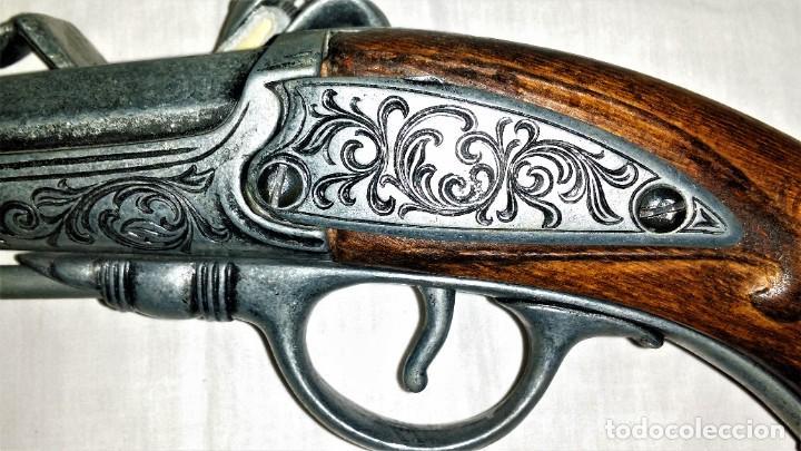 Militaria: Interesante réplica de pistola de duelo avancarga o pistola de chispa 39 cm. Envío gratis Península - Foto 12 - 252238515