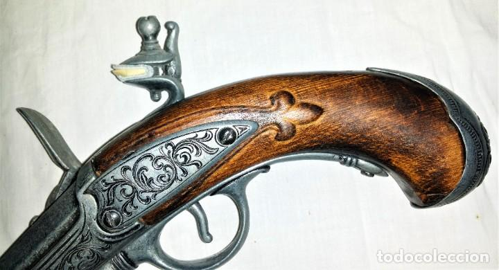 Militaria: Interesante réplica de pistola de duelo avancarga o pistola de chispa 39 cm. Envío gratis Península - Foto 13 - 252238515