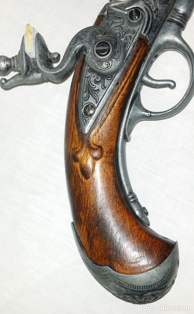 Militaria: Interesante réplica de pistola de duelo avancarga o pistola de chispa 39 cm. Envío gratis Península - Foto 14 - 252238515