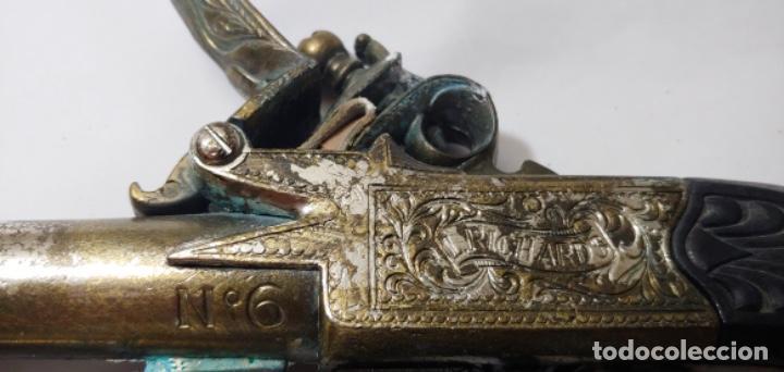 Militaria: Réplica de pistola L. Richards nº 6 y regalo también réplica, una daga. - Foto 3 - 252361565