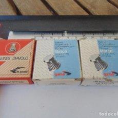 Militaria: LOTE DE 3 CAJAS BALINES DIAVOLO ,EL GAMO, CARTON, MATCH. Lote 252988570