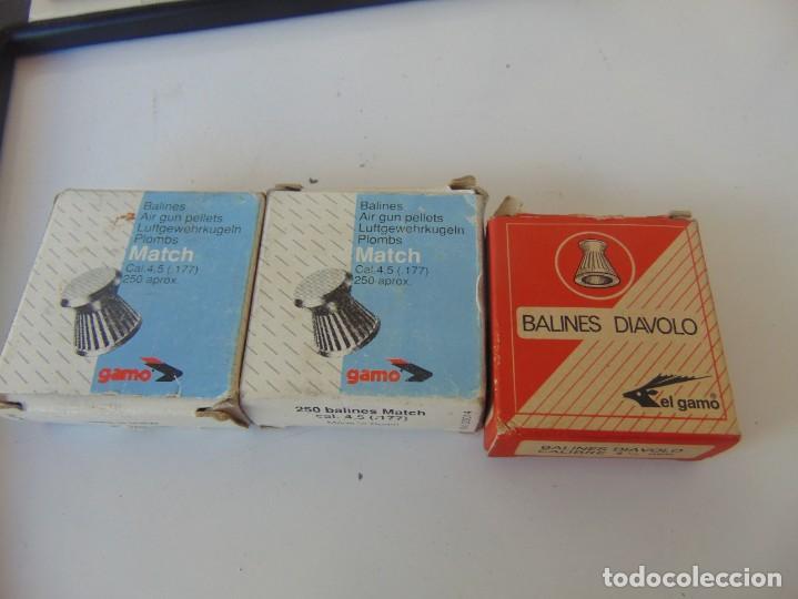 Militaria: LOTE DE 3 CAJAS BALINES DIAVOLO ,EL GAMO, CARTON, MATCH - Foto 5 - 252988570