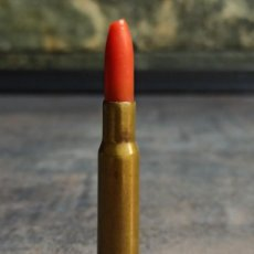 Militaria: CARTUCHO 7X57 MAUSER FNT FÁBRICA NACIONAL DE TOLEDO 1953 BALA DE PLÁSTICO (MUY RARO) INERTE. Lote 254084245