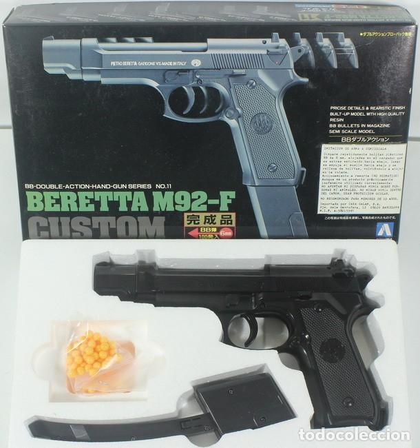 Militaria: Maqueta pistola de bolas Beretta M92-F, ref. nº 11 - G-1200, 1/1, Aoshima - Foto 2 - 255571215