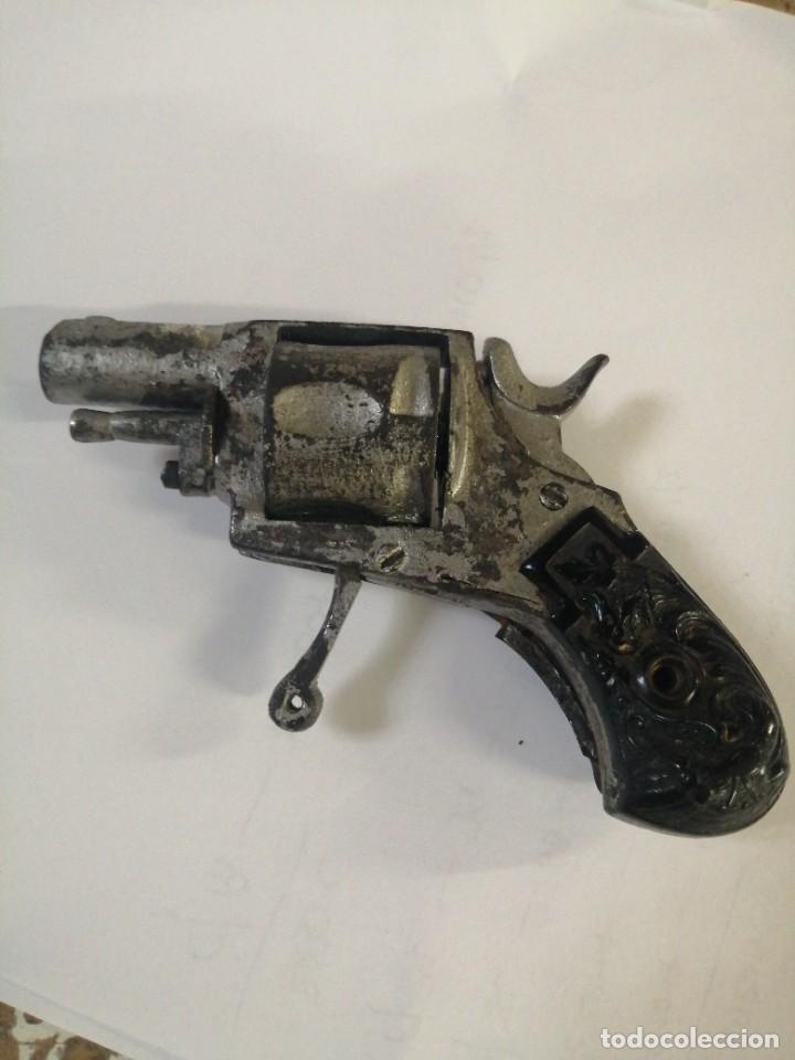 Militaria: Mini revolver calibre 7,65, 5 recamaras, antiguo - Foto 2 - 255966740