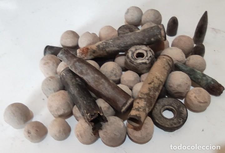 Militaria: .lote 0,9 Kg BOLAS PLOMO antiguas mosqueton, balas casquillos minicion INERTE ¡¡¡LIQUIDACIO - Foto 2 - 257622585