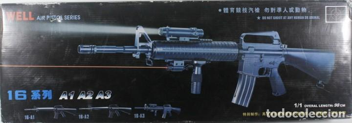 M-16 A2, DE PLÁSTICO, WELL AIR PISTOL SERIES, ESCALA 1/1 (Militar - Réplicas de Armas de Fuego y CO2 )