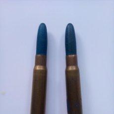 Militaria: 2 CARTUCHOS DE 7,92 X 57 MAUSER CON BALA DE MADERA TOLEDO. INERTE.. Lote 265363404