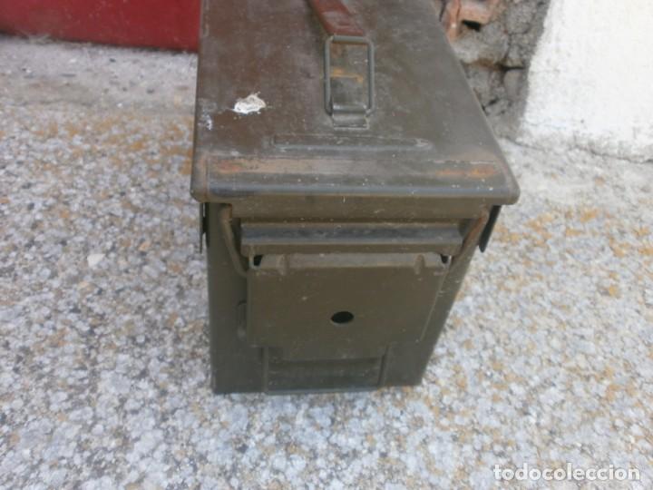 Militaria: Caja de Municiones Italiana 1962 altura 18 ancho 30X15.5 cm. buen estado - Foto 3 - 26965126