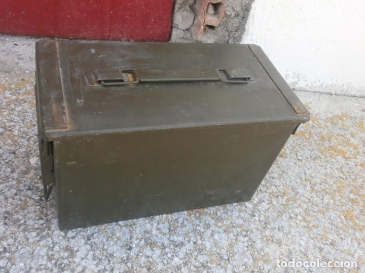 Militaria: Caja de Municiones Italiana 1962 altura 18 ancho 30X15.5 cm. buen estado - Foto 4 - 26965126