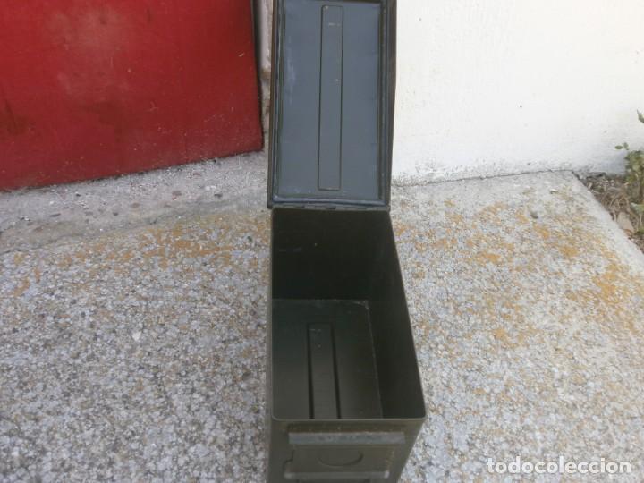Militaria: Caja de Municiones Italiana 1962 altura 18 ancho 30X15.5 cm. buen estado - Foto 5 - 26965126