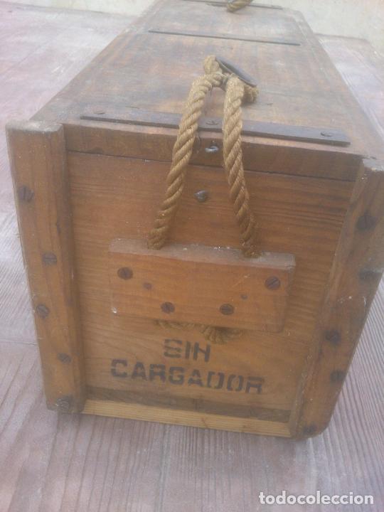 Militaria: Caja de madera de munición.Nato español - Foto 4 - 266578938