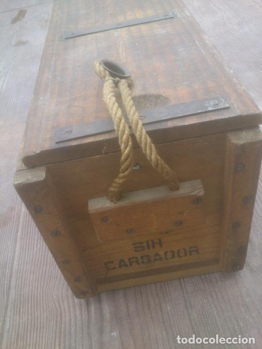 Militaria: Caja de madera de munición.Nato español - Foto 5 - 266578938