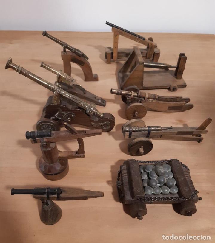 COLECCIÓN AÑO 1974 10 PIEZAS DE ARTILLERÍA ( CAÑONES ) MUSEO MILITAR CASTILLO MONTJUIC (Militar - Réplicas de Armas de Fuego y CO2 )