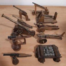 Militaria: COLECCIÓN AÑO 1974 10 PIEZAS DE ARTILLERÍA ( CAÑONES ) MUSEO MILITAR CASTILLO MONTJUIC. Lote 268472889