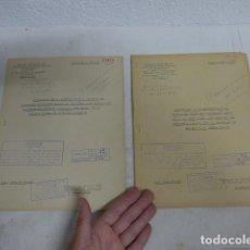 Militaria: ANTIGUOS 2 DOSIER SECRETO DE 1953 DE FABRICACION DE CARTUCHOS MUNICION DISTINTOS, FRANCIA. ORIGINAL.. Lote 268583579
