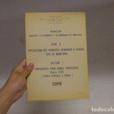 Militaria: ANTIGUO DOSIER MILITAR FRANCES DE PINTURA Y MARCAJES DE MUNICION, AÑOS 50-60. FRANCIA.. Lote 268584039