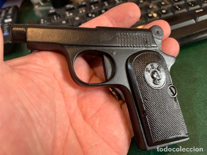 Militaria: Pequeña Pistola de Metal, de pistones asusta-Perros, años 30/50 Marca T.E.E. - Foto 7 - 268620379