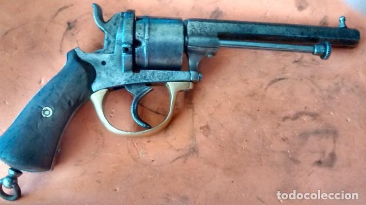 REVÓLVER LEFAUCHEUX (CARTUCHO DE ESPIGA). MARCAJE BELGA. INERTE (Militar - Armas de Fuego Inutilizadas)
