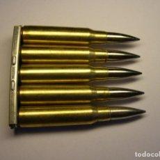 Militaria: PEINE MAS, CALIBRE 7.5 MM., CON 5 CARTUCHOS INERTES.. Lote 269259128