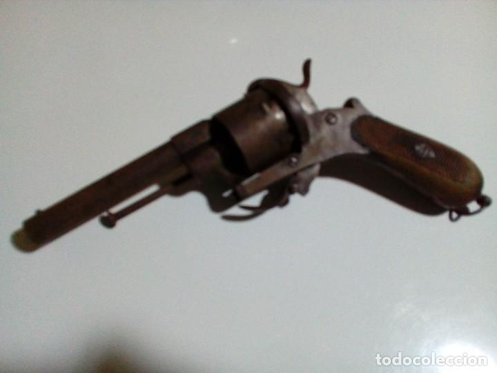Militaria: Revolver percusión Lefaucheaux enmarcado en bonito cuadro para coleccionistas - Foto 16 - 270139708