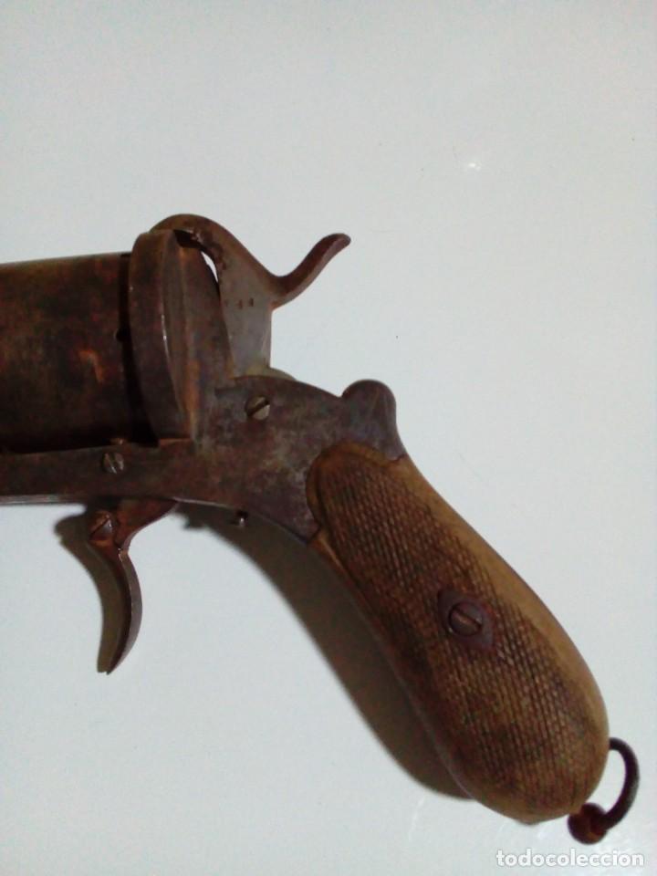 Militaria: Revolver percusión Lefaucheaux enmarcado en bonito cuadro para coleccionistas - Foto 21 - 270139708