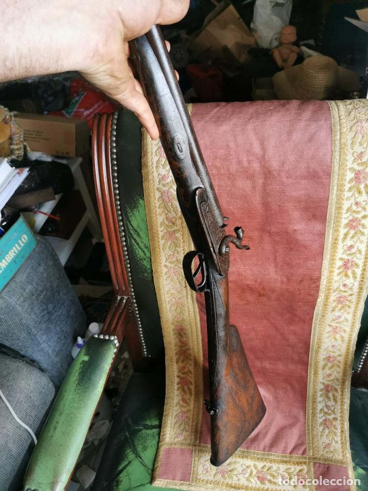 Militaria: Escopeta de avancarga de pistón. Mediados del siglo XIX. Inutilizada. Leer bien el anuncio - Foto 2 - 270221148