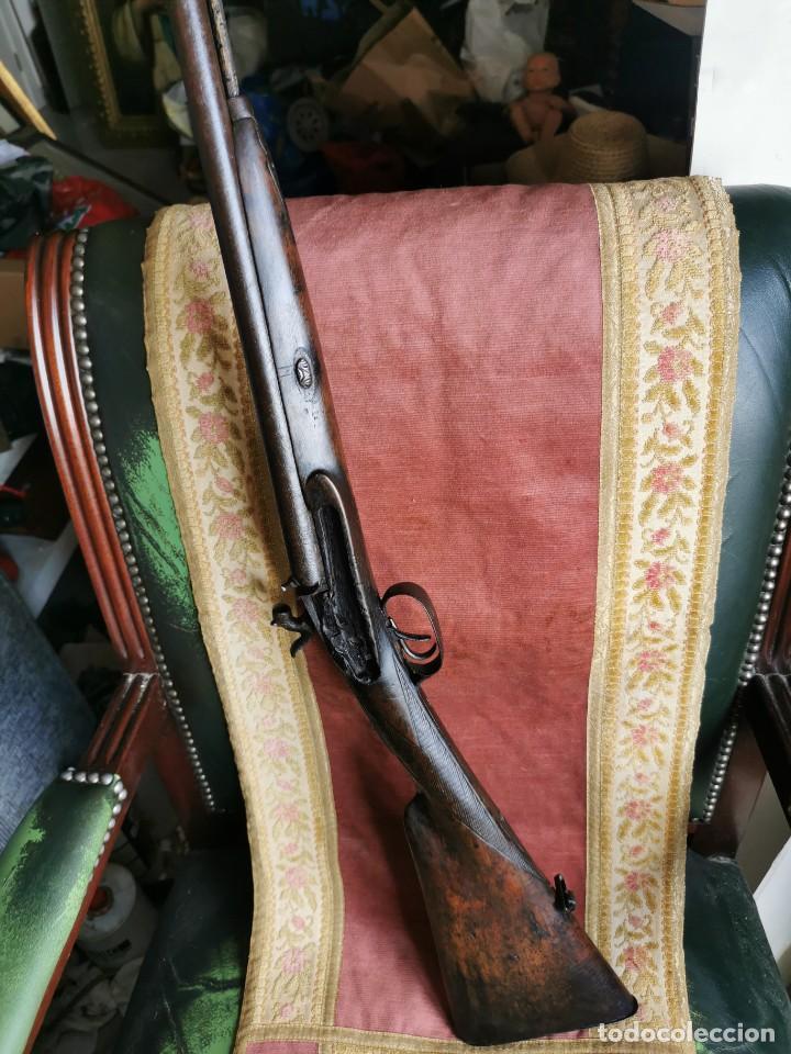 Militaria: Escopeta de avancarga de pistón. Mediados del siglo XIX. Inutilizada. Leer bien el anuncio - Foto 4 - 270221148