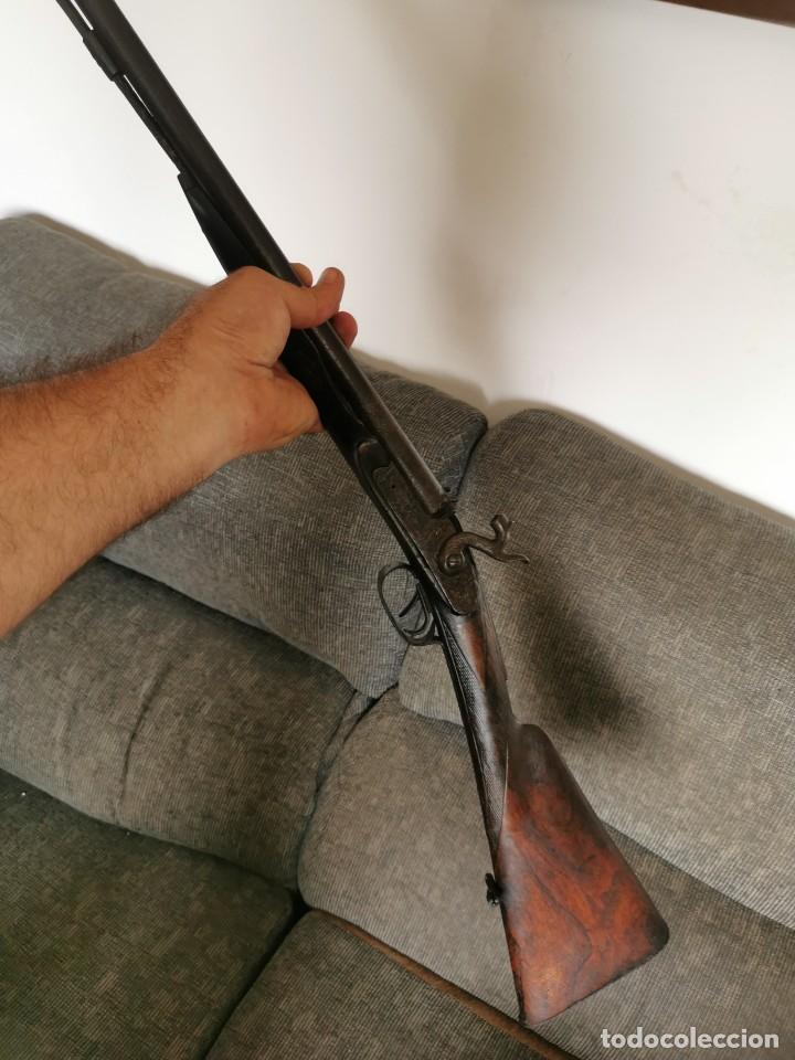 Militaria: Escopeta de avancarga de pistón. Mediados del siglo XIX. Inutilizada. Leer bien el anuncio - Foto 10 - 270221148