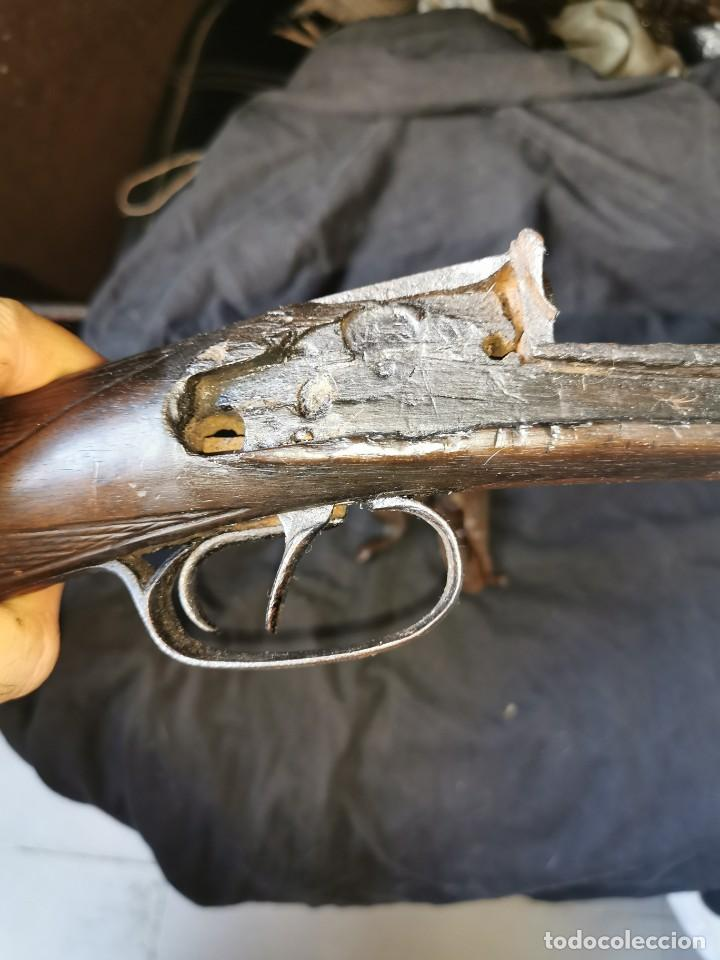 Militaria: Escopeta de avancarga de pistón. Mediados del siglo XIX. Inutilizada. Leer bien el anuncio - Foto 37 - 270221148