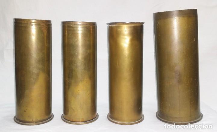 Militaria: Oportunidad: Lote de 4 vainas de obús o proyectiles inertes Alemania primera guerra mundial - Foto 3 - 271101578