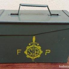 Militaria: CAJA MILITAR DE MUNICIÓN (VACÍA) PERFECTO ESTADO MIDE 30 X 15,5 X 18 CM. FABRICA PALENCIA 1971. Lote 274191543