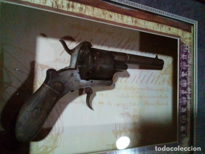 Militaria: Revolver percusión Lefaucheaux enmarcado en bonito cuadro para coleccionistas - Foto 2 - 275151383