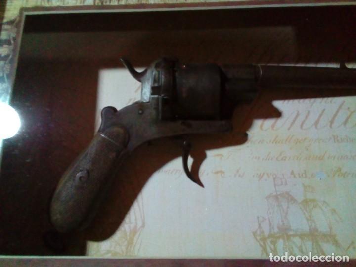 Militaria: Revolver percusión Lefaucheaux enmarcado en bonito cuadro para coleccionistas - Foto 4 - 275151383