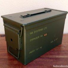 Militaria: CAJA MILITAR DE MUNICIÓN (VACÍA) PERFECTO ESTADO MIDE 30 X 15,5 X 18 CM.(2). Lote 276479013