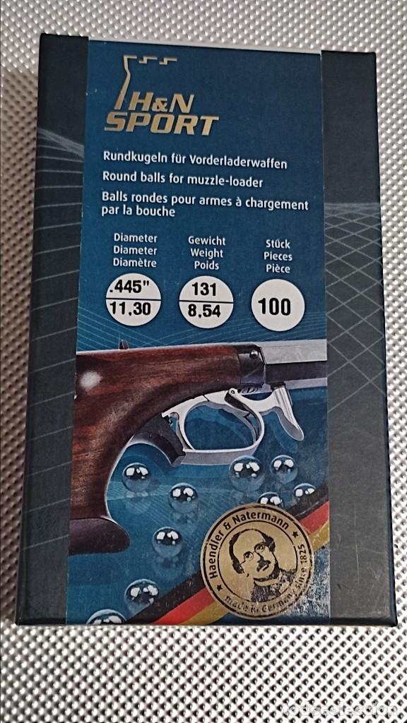 BOLAS DE AVANCARGA CAL. 44 (Militar - Armas de Fuego de Avancarga y Complementos)