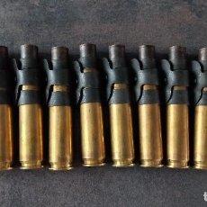 Militaria: CINTA AMETRALLADORA 12.70 BROWNING 10 VAINAS CON ESLABONES INERTE. Lote 280404678