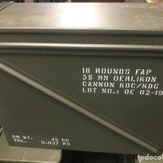 Militaria: CAJA DE TRANSPORTE PARA MUNICIÓN DE 35 MM (VACÍA). Lote 285214618