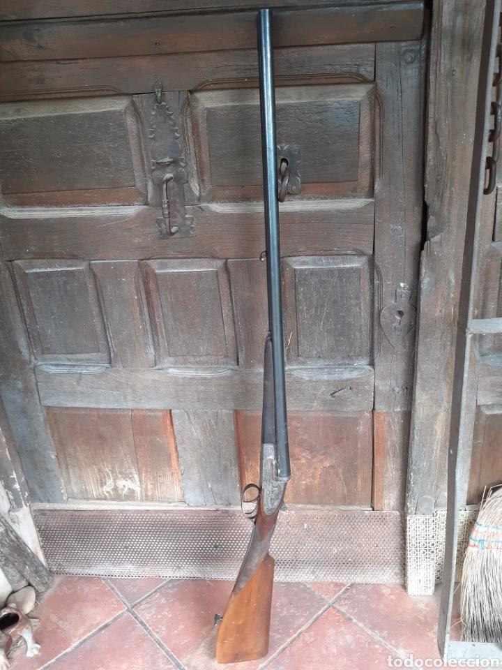 Militaria: ESCOPETA LA LOGROÑESA CAL.12. CAÑONES DE ACERO MARTILLADO. CON GUIA - Foto 5 - 287688833