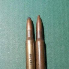 Militaria: LOTE 2 CARTUCHOS COLECCIÓN 30.06- INERTES. Lote 288077148