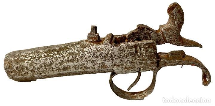 Militaria: Antiguo pistón de arma del siglo XIX. Restaurado. 13x8x2 - Foto 2 - 288153748