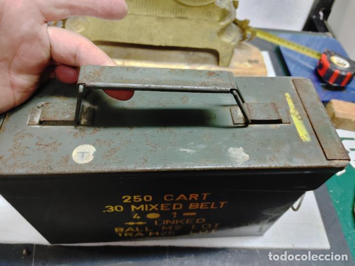 Militaria: CAJA MUNICION. 250 CART 30 MIXED BELT. 4-1 AÑO 1969 - Foto 2 - 289528938