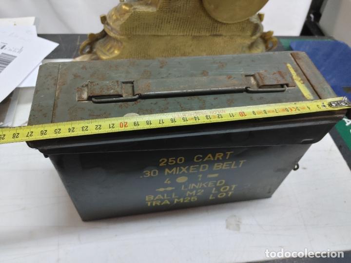 Militaria: CAJA MUNICION. 250 CART 30 MIXED BELT. 4-1 AÑO 1969 - Foto 8 - 289528938
