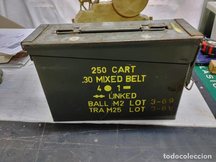 CAJA MUNICION. 250 CART 30 MIXED BELT. 4-1 AÑO 1969 (Militar - Cartuchería y Munición)