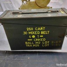 Militaria: CAJA MUNICION. 250 CART 30 MIXED BELT. 4-1 AÑO 1969. Lote 289528938