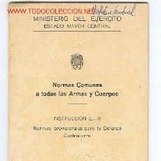 Militaria: LIBRO DE DEFENSA CONTRACARRO. Lote 2467201